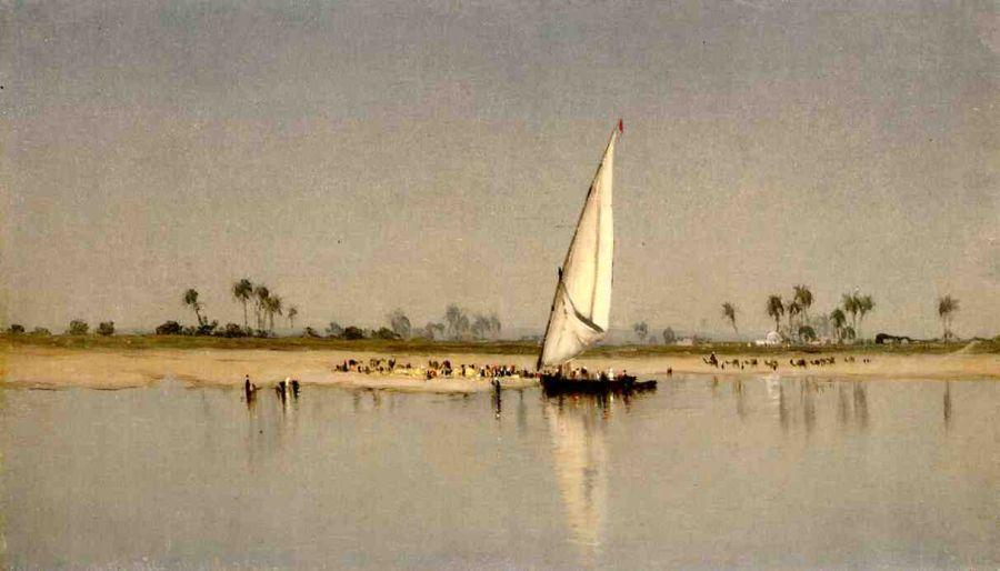 Sanford Robinson Gifford a_sketch_of_the_nile_1869