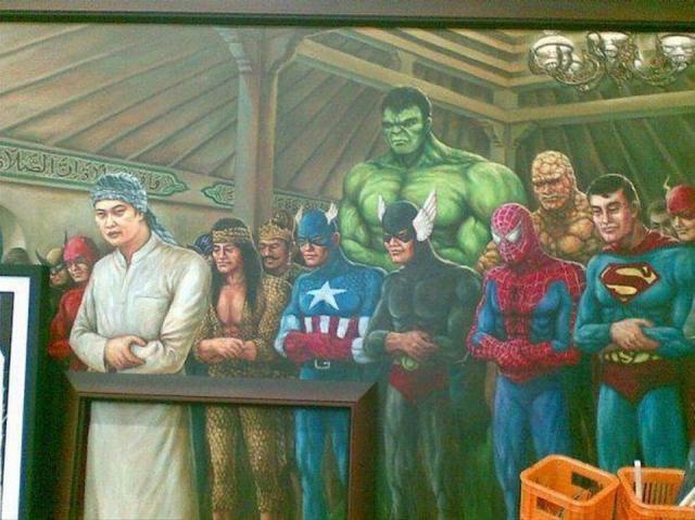 SuperHeroes at Prayer